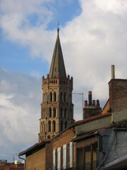 Toulouse's St. Sernin Basilica looms over the surrounding neighborhoods like an eager phallus.