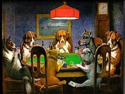 The Copiest Masterstroke was the famous Dogs Playing Poker painting.