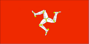 The Isle of Man also features a triskelion on its flag.